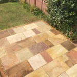 Fossil Indian Sandstone with sleeper border