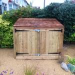 Cedar roof bespoke storage shed